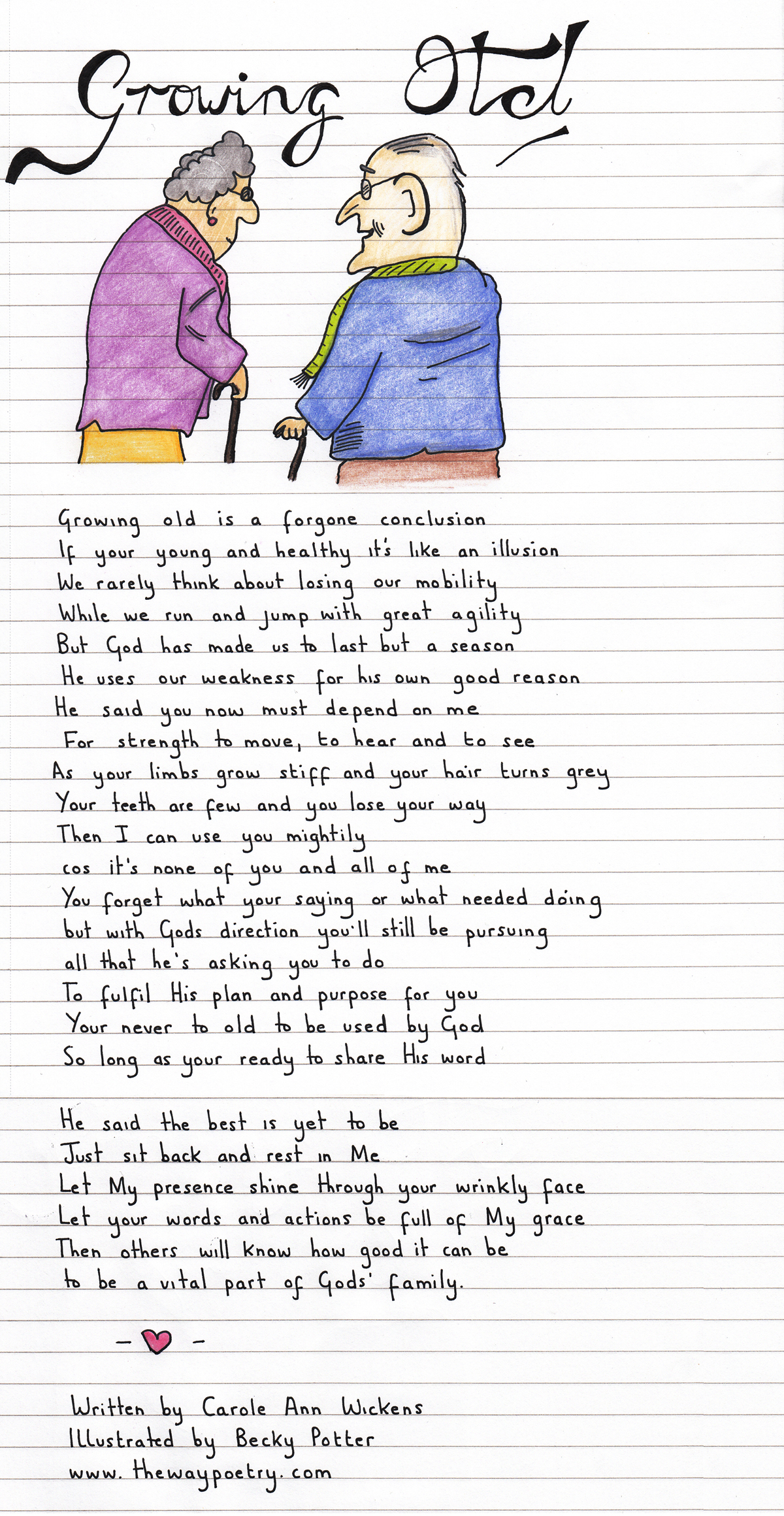 Growing Old by Carole Ann Wickens