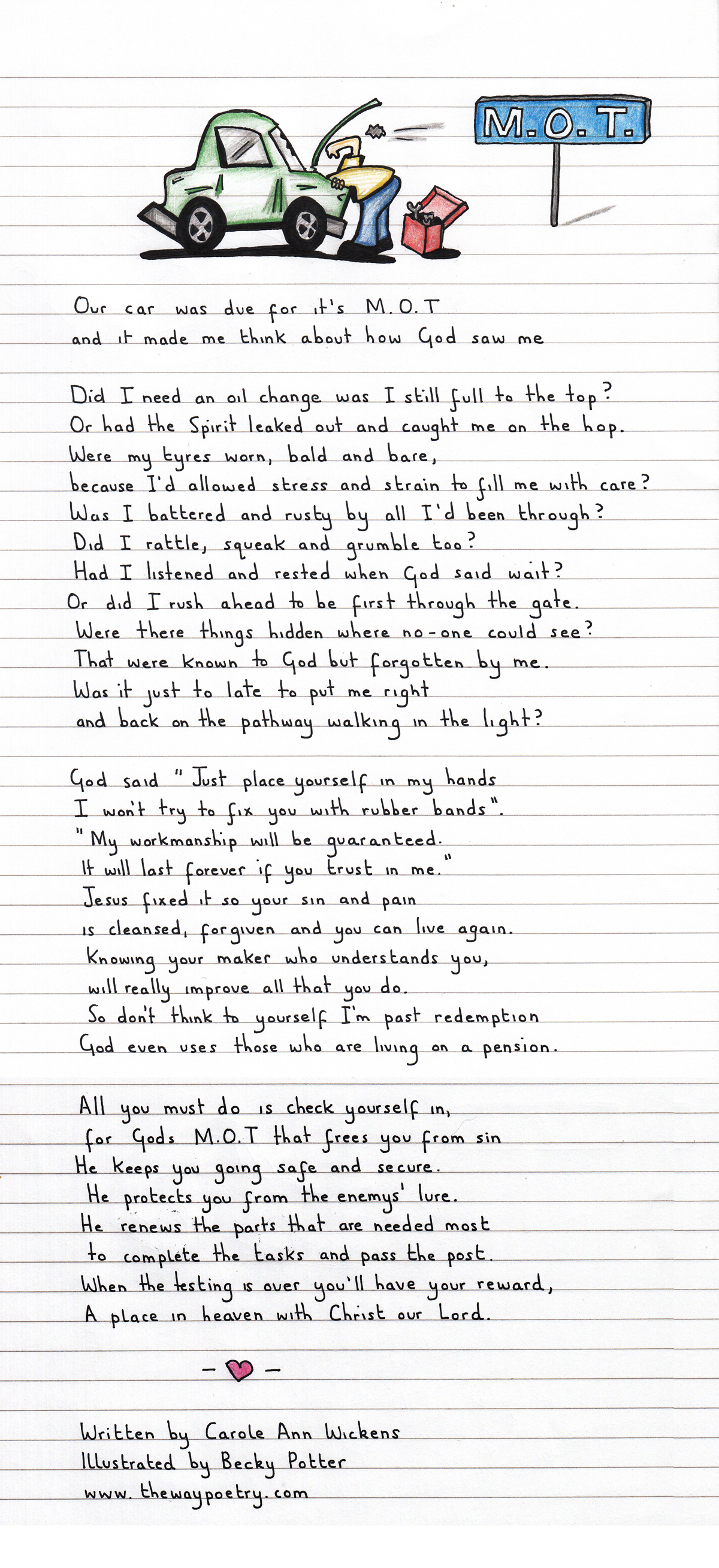 M.O.T. by Carole Ann Wickens