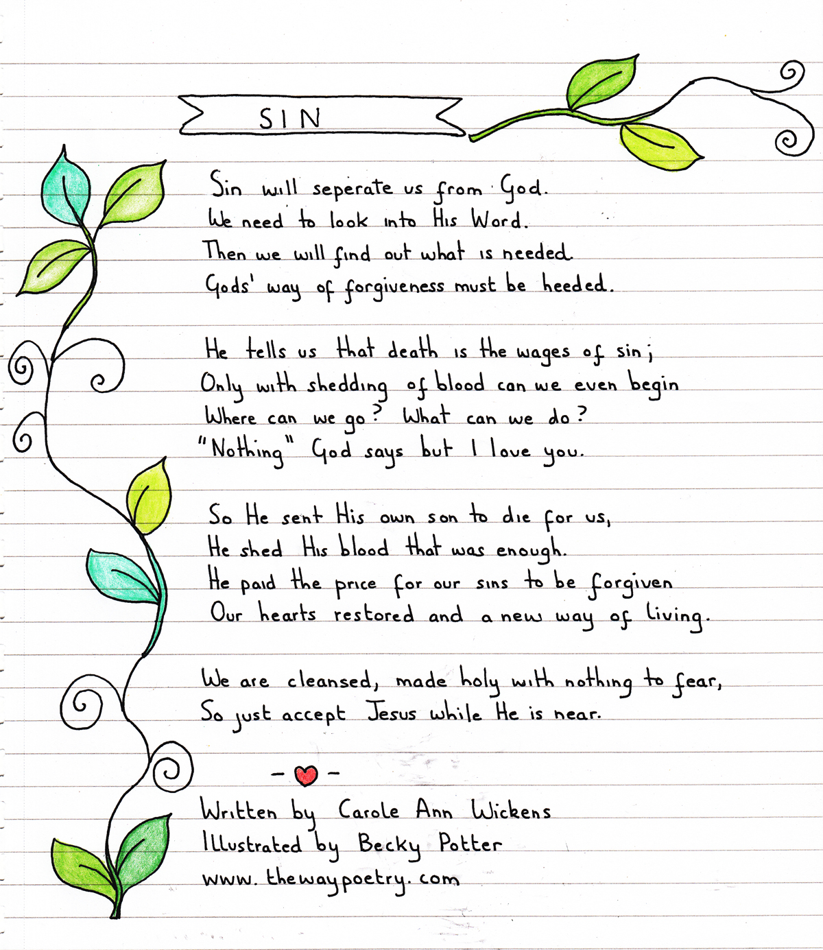 Sin by Carole Ann Wickens
