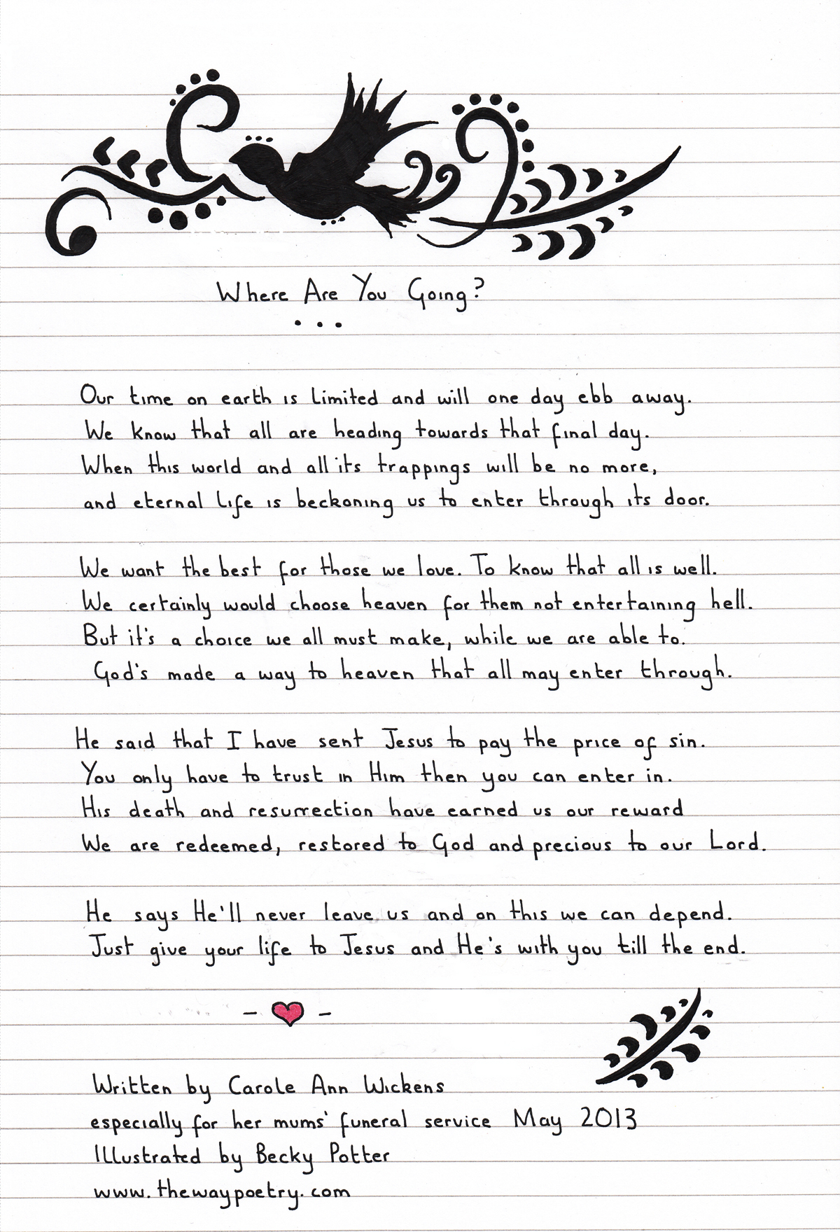 Where Are You Going? by Carole Ann Wickens