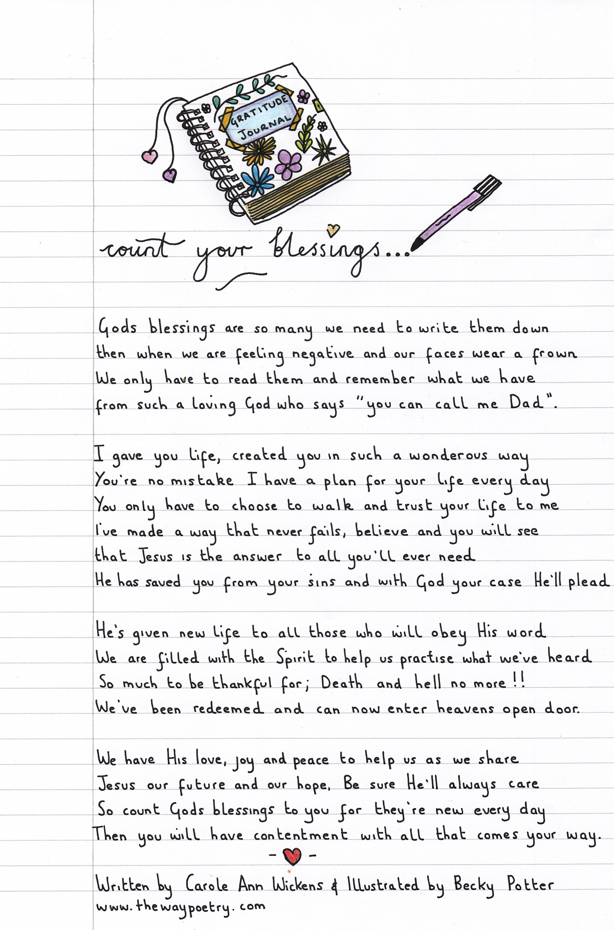 Count Your Blessings by Carole Ann Wickens