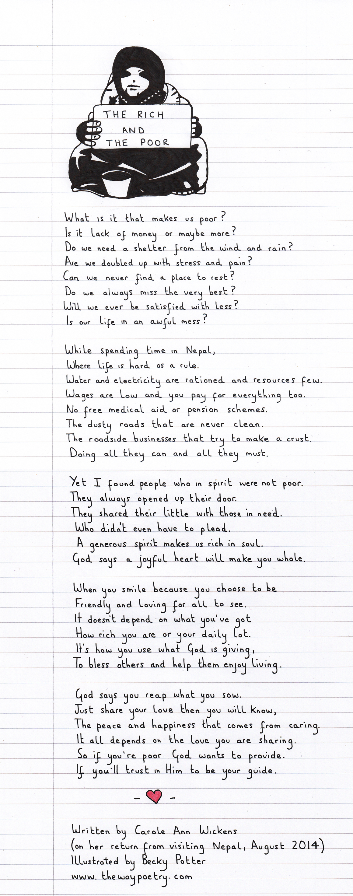 The Rich And The Poor by Carole Ann Wickens