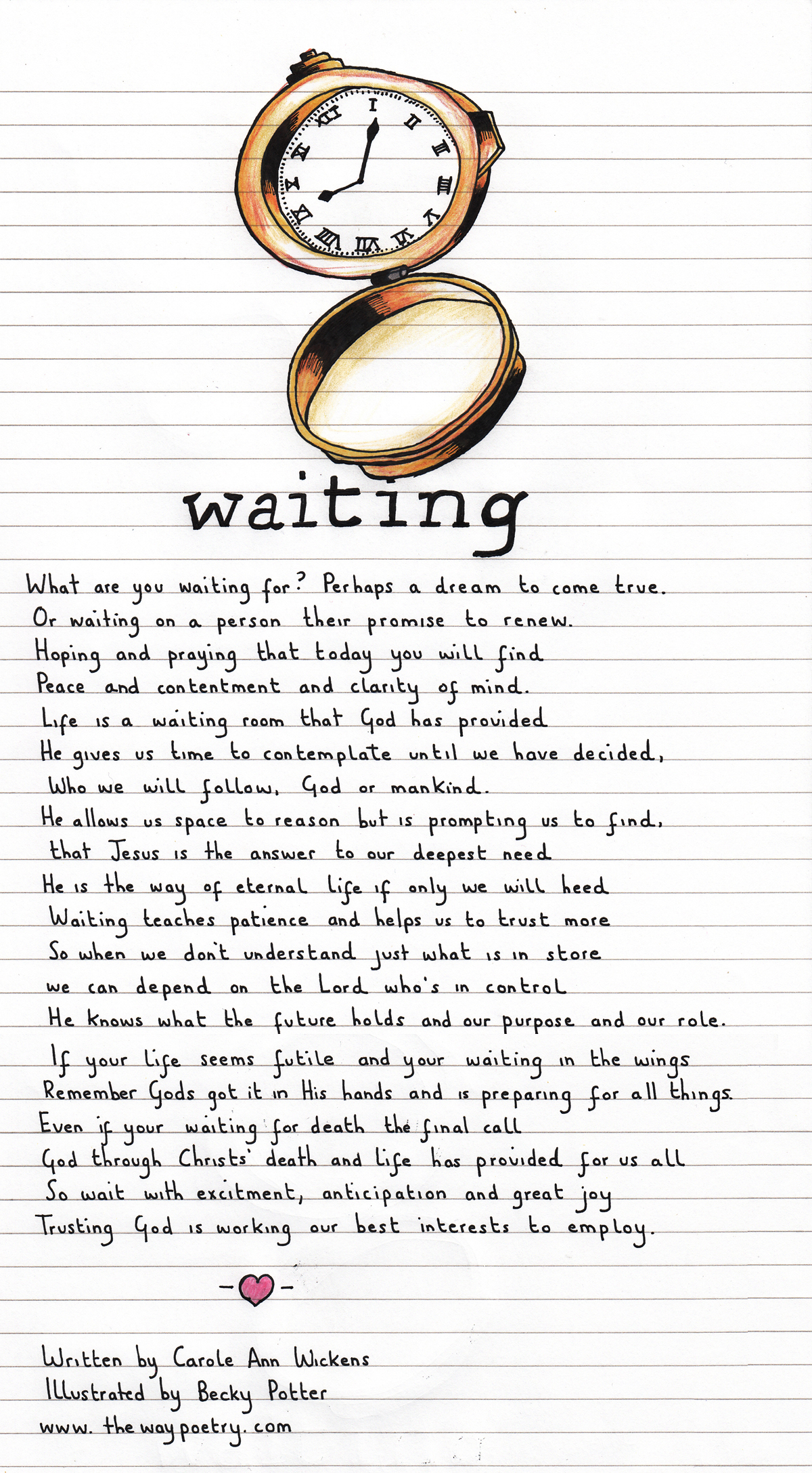 Waiting by Carole Ann Wickens