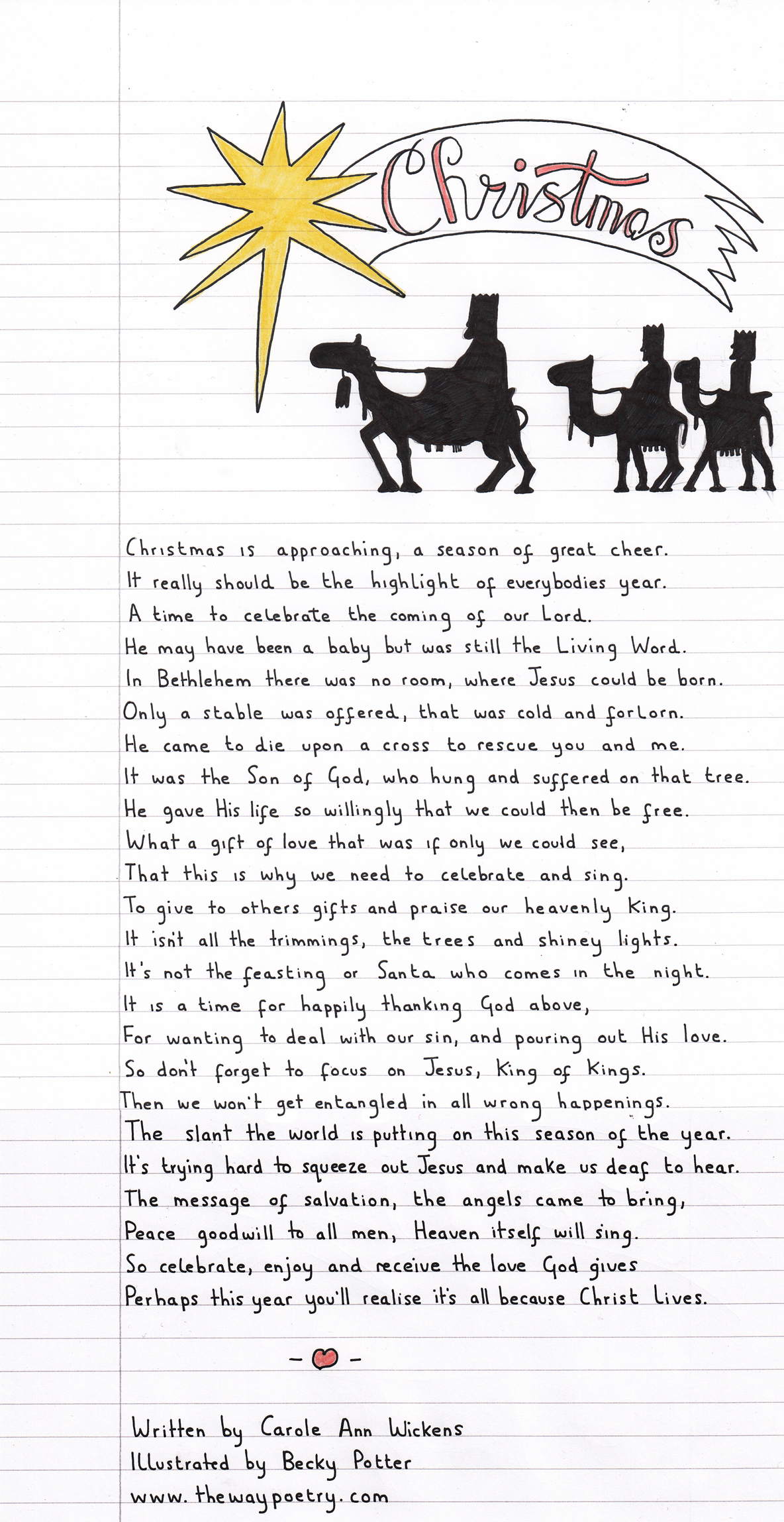 Christmas by Carole Ann Wickens