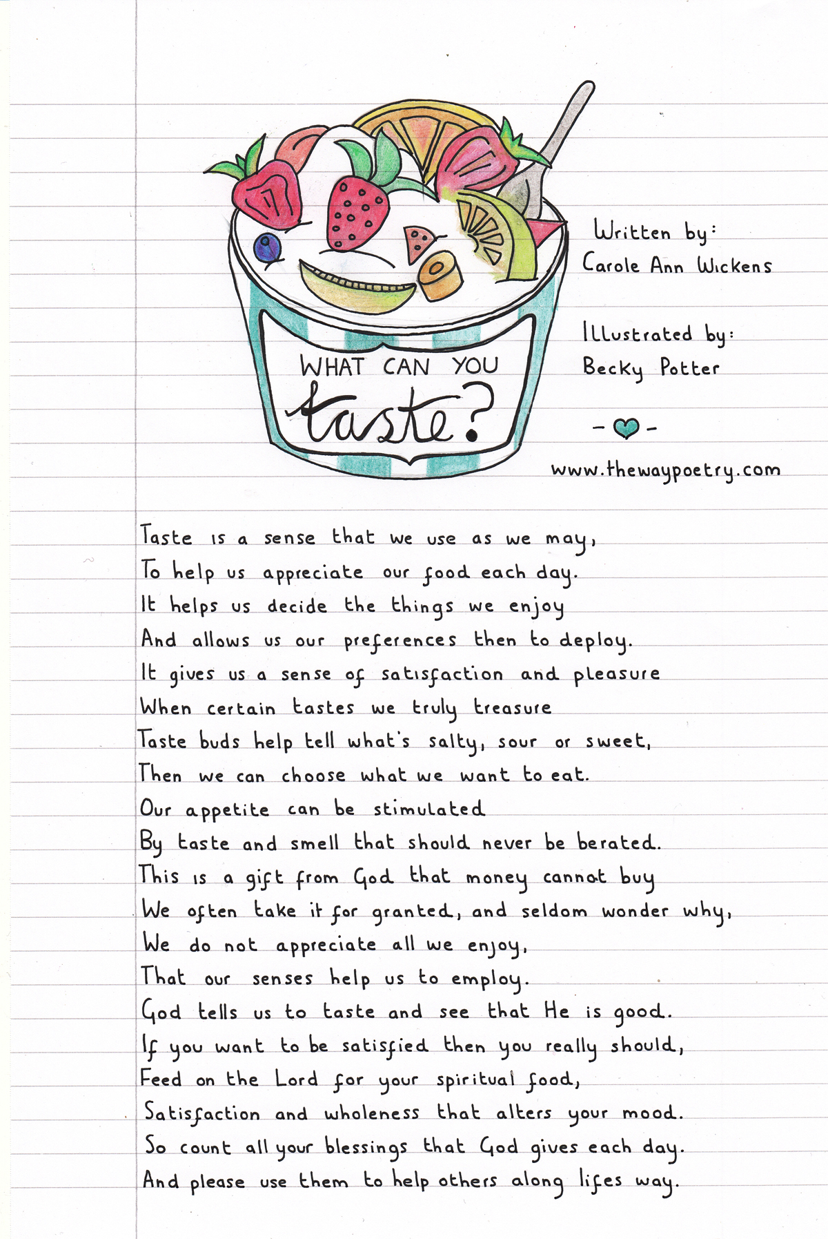 What Can You Taste? by Carole Ann Wickens