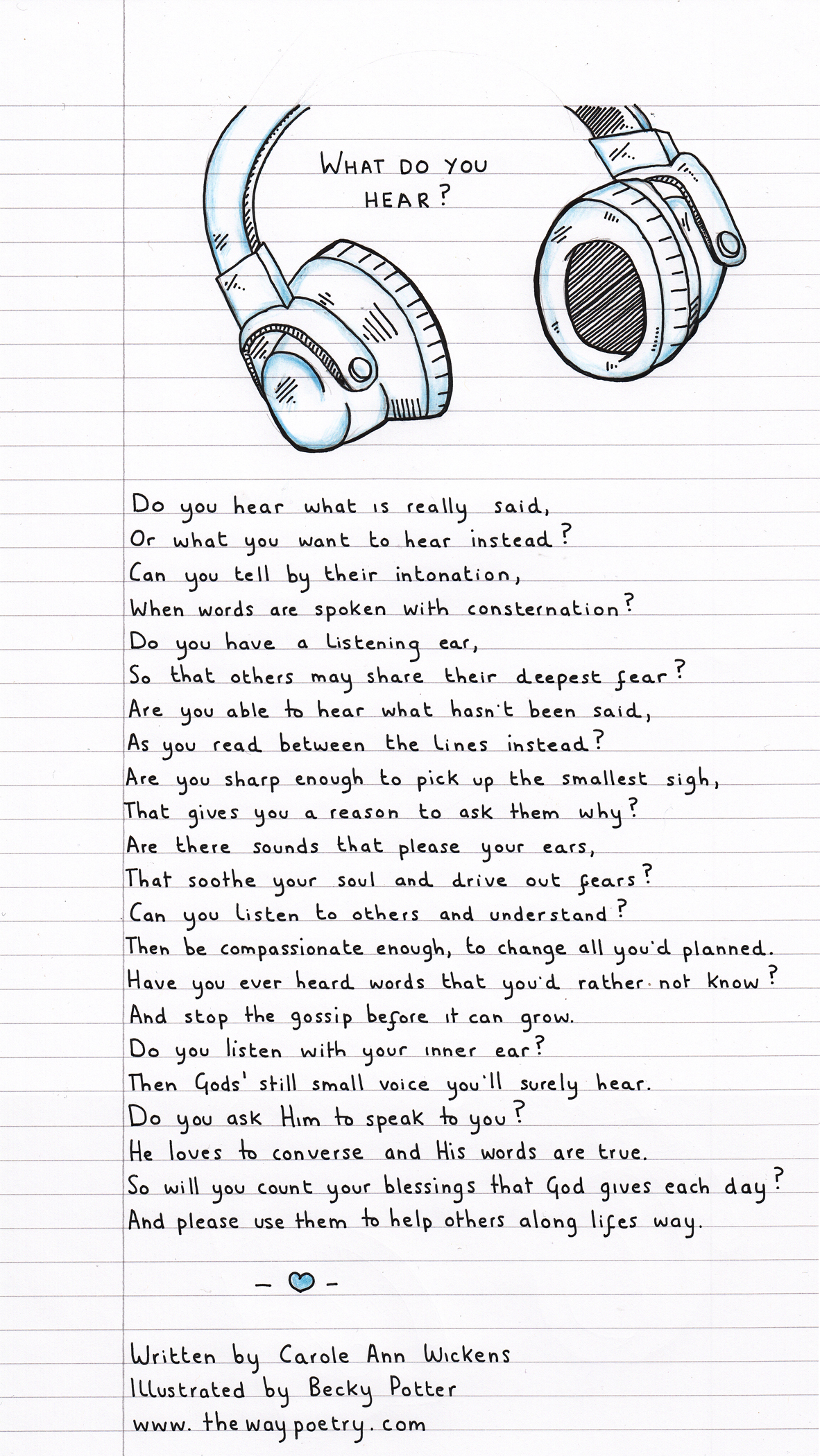What Do You Hear? by Carole Ann Wickens