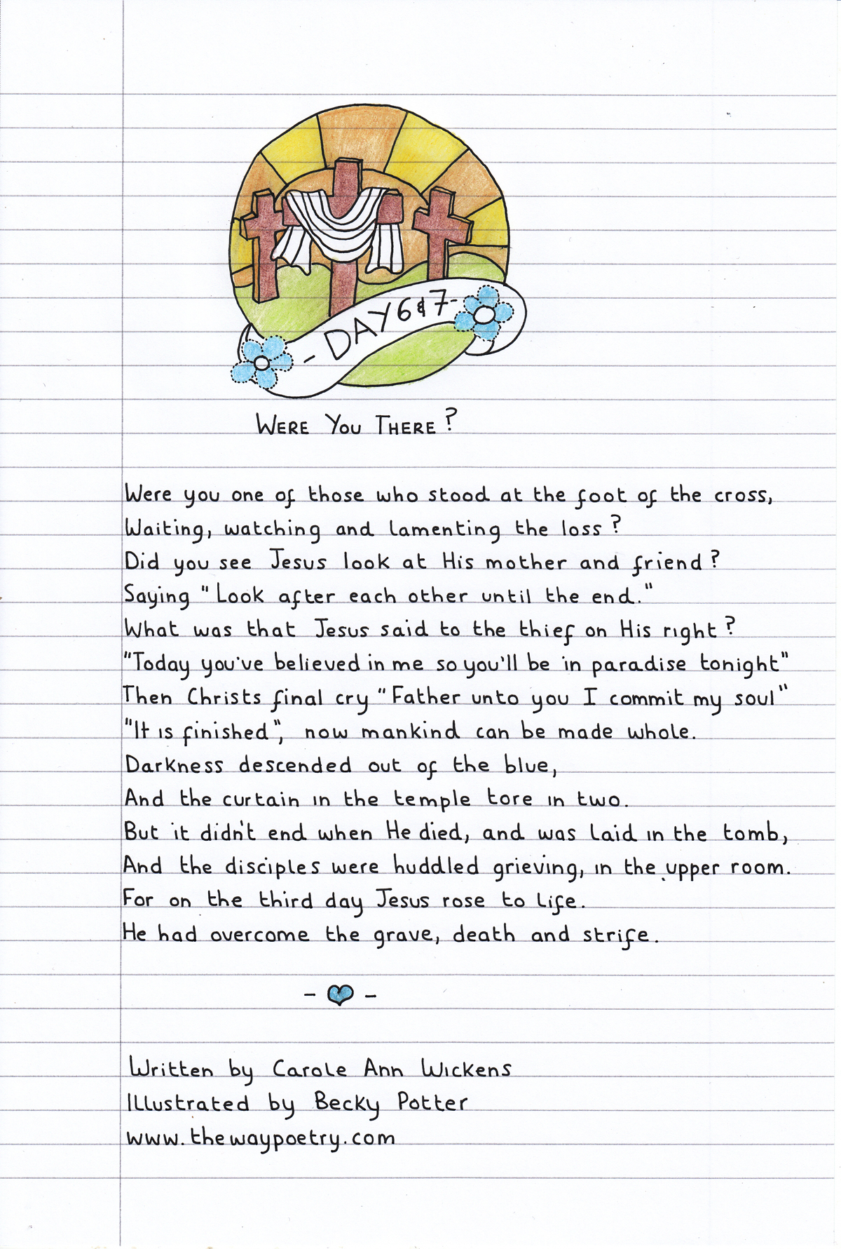 Were You There? (Easter Week – Day 6 & 7) by Carole Ann Wickens
