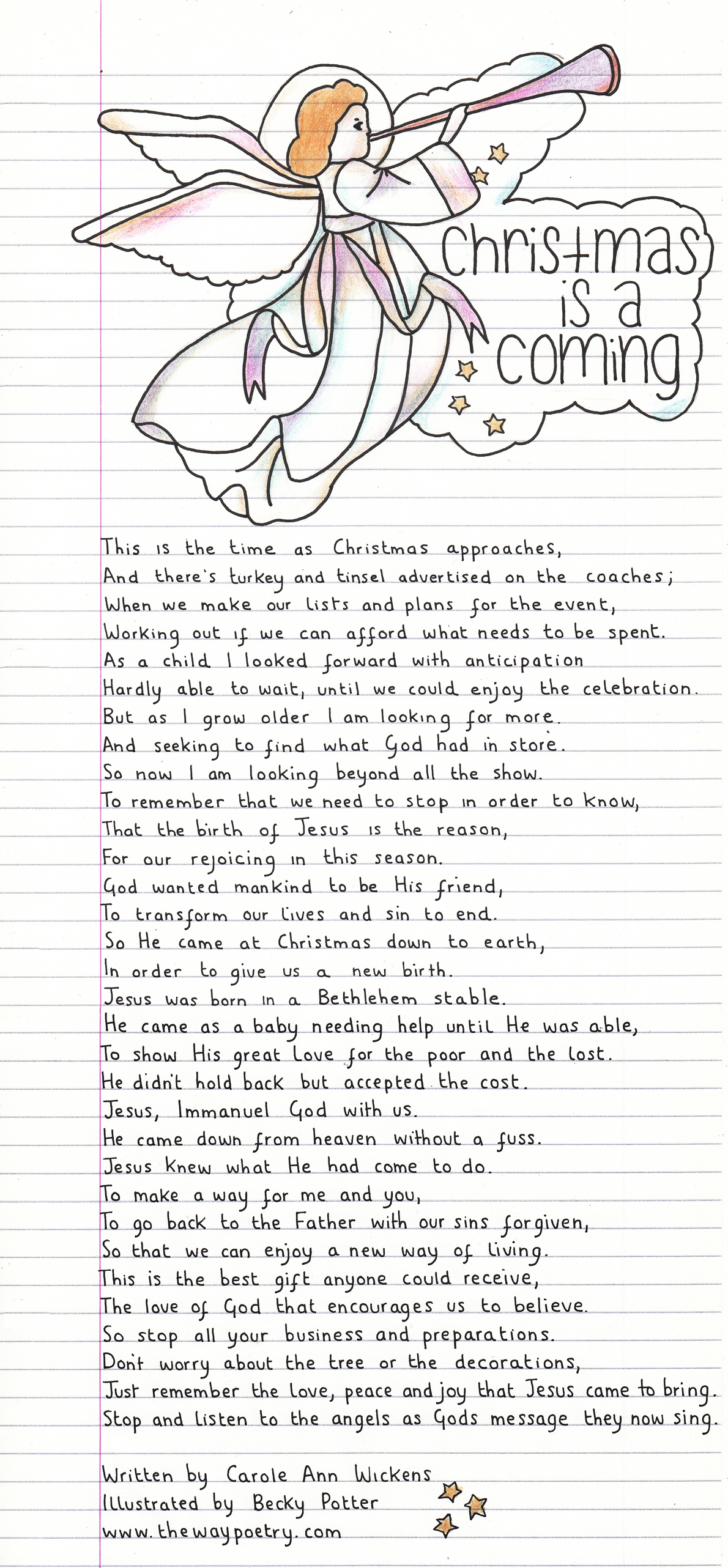 Christmas Is A Coming by Carole Ann Wickens