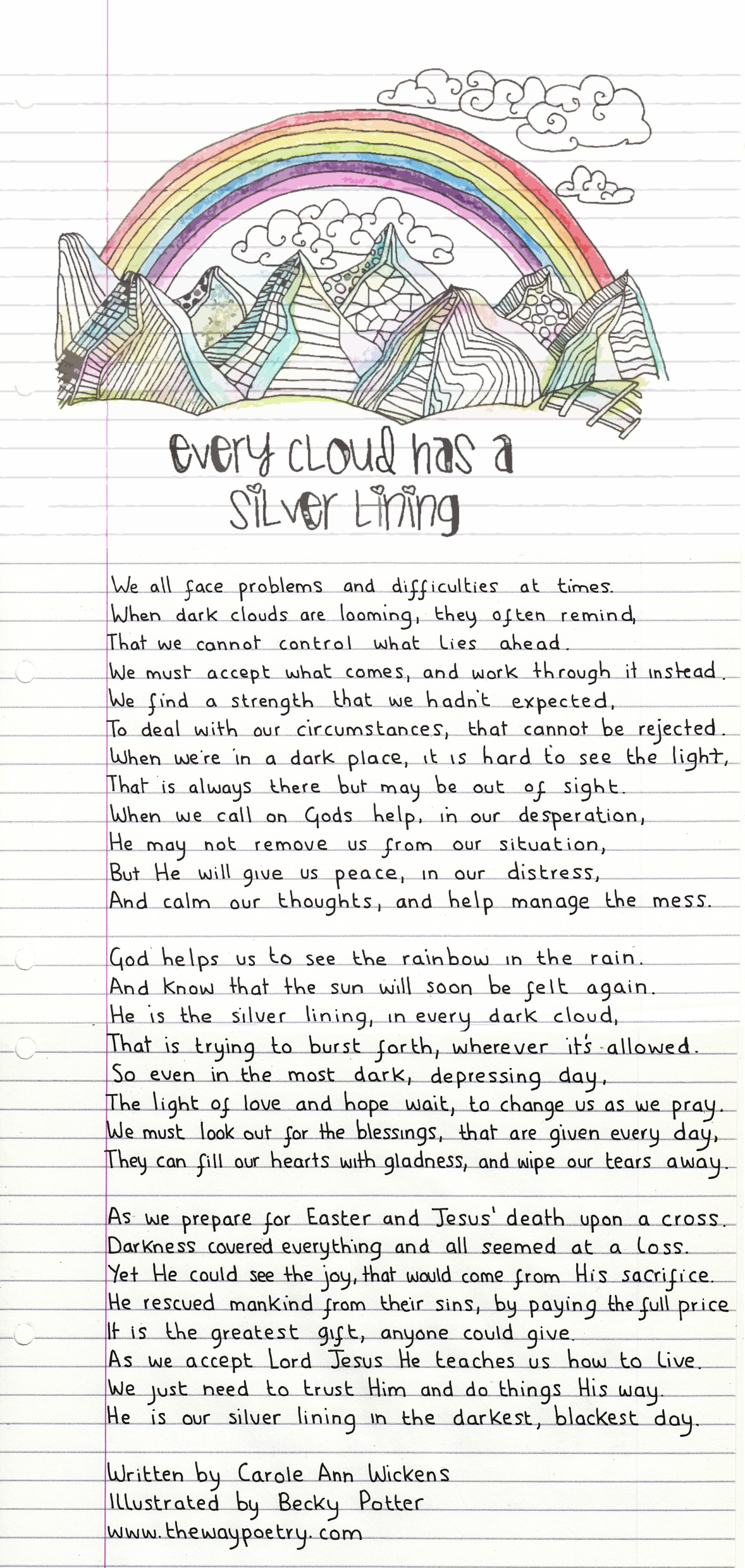 Every Cloud Has A Silver Lining by Carole Ann Wickens