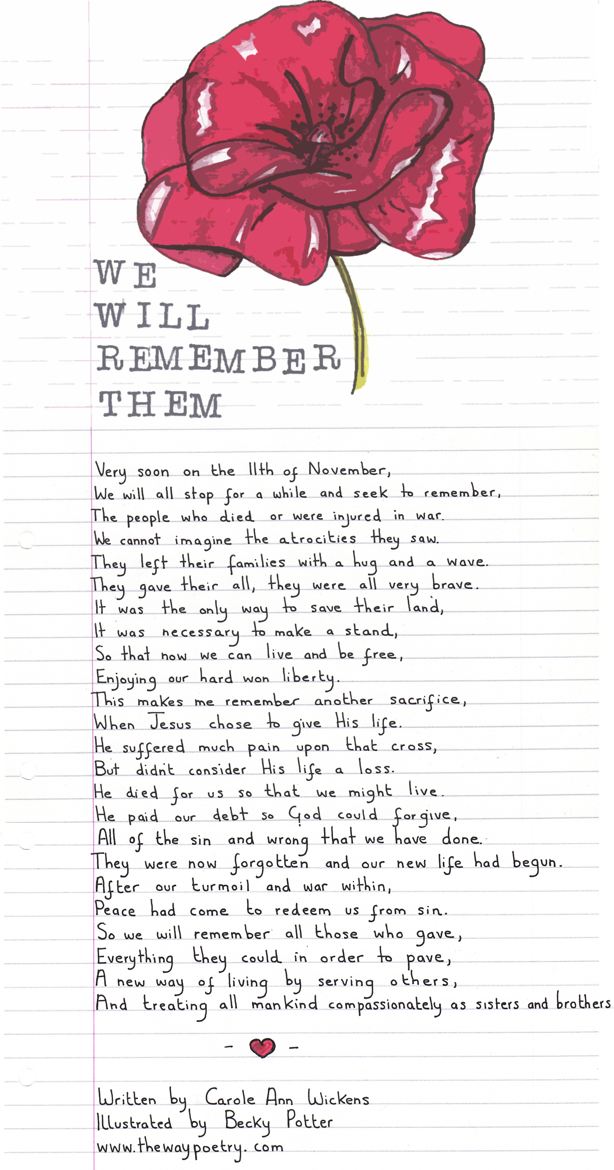 We Will Remember Them by Carole AnnWickens