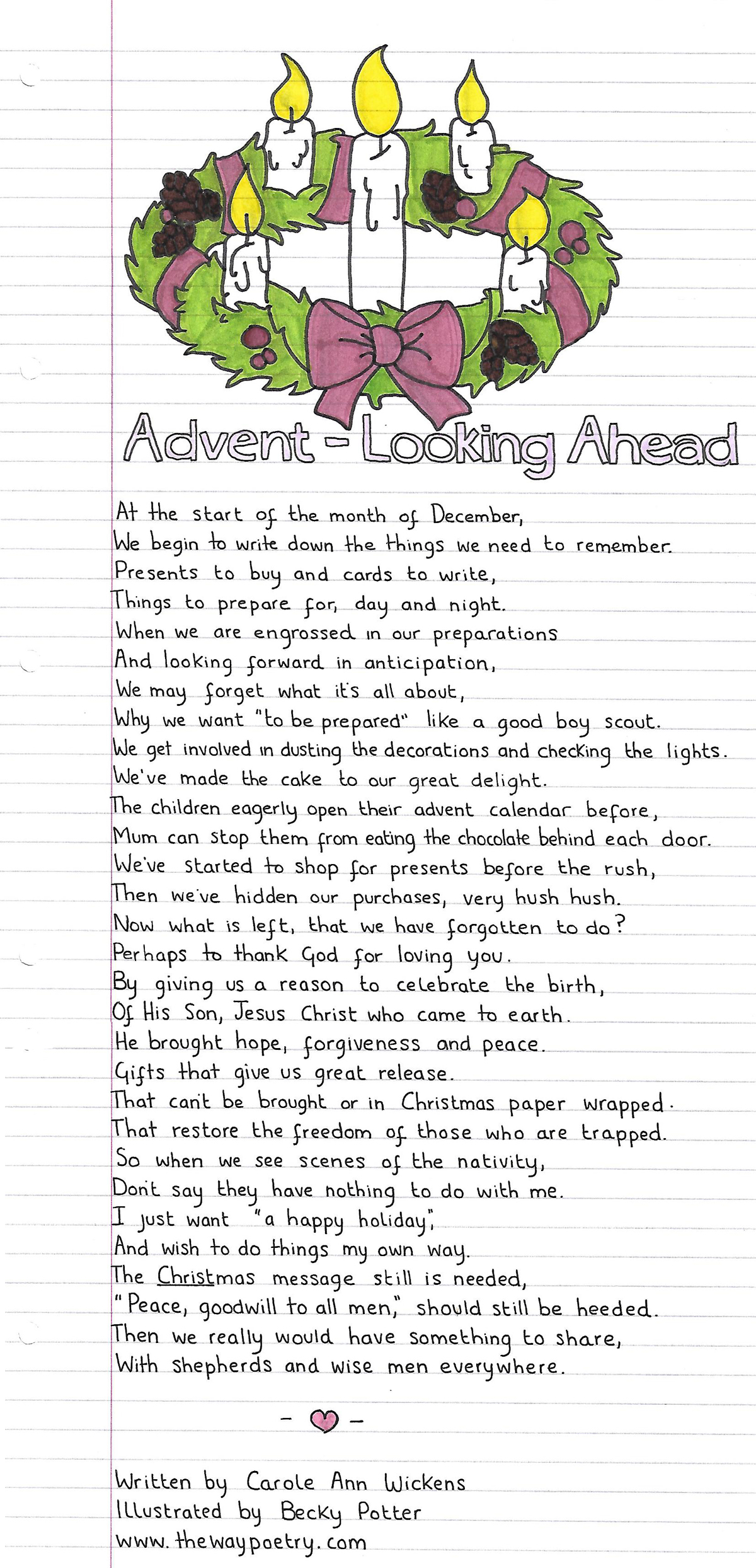 Advent – Looking Ahead by Carole Ann Wickens