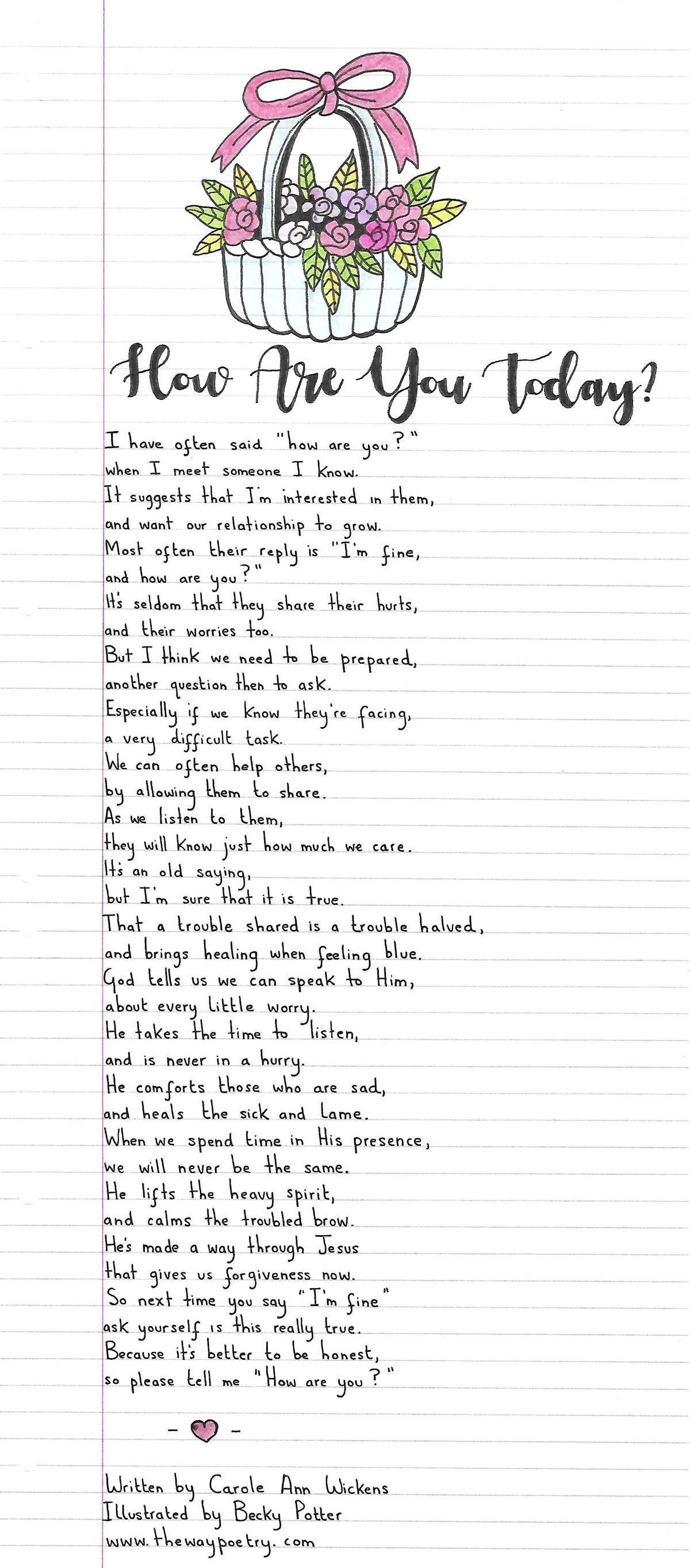 How Are You Today? by Carole Ann Wickens