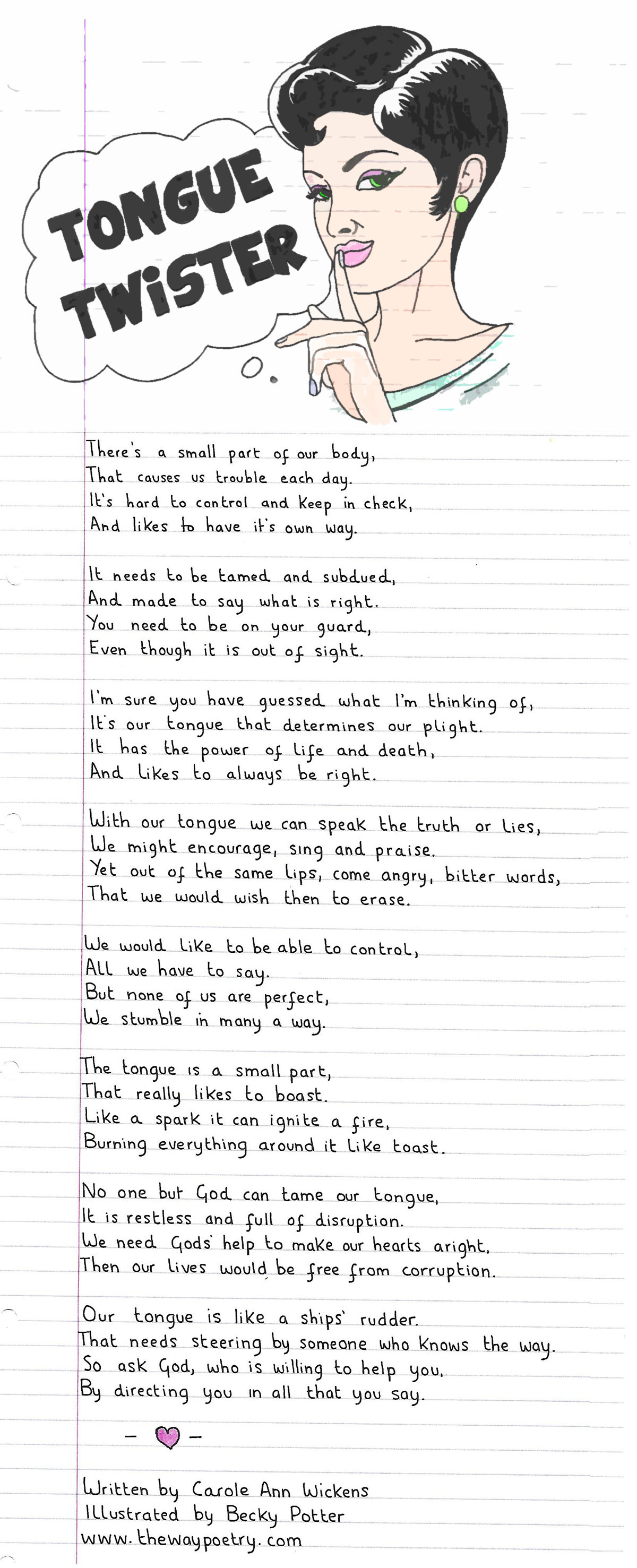Tongue Twister by Carole Ann Wickens