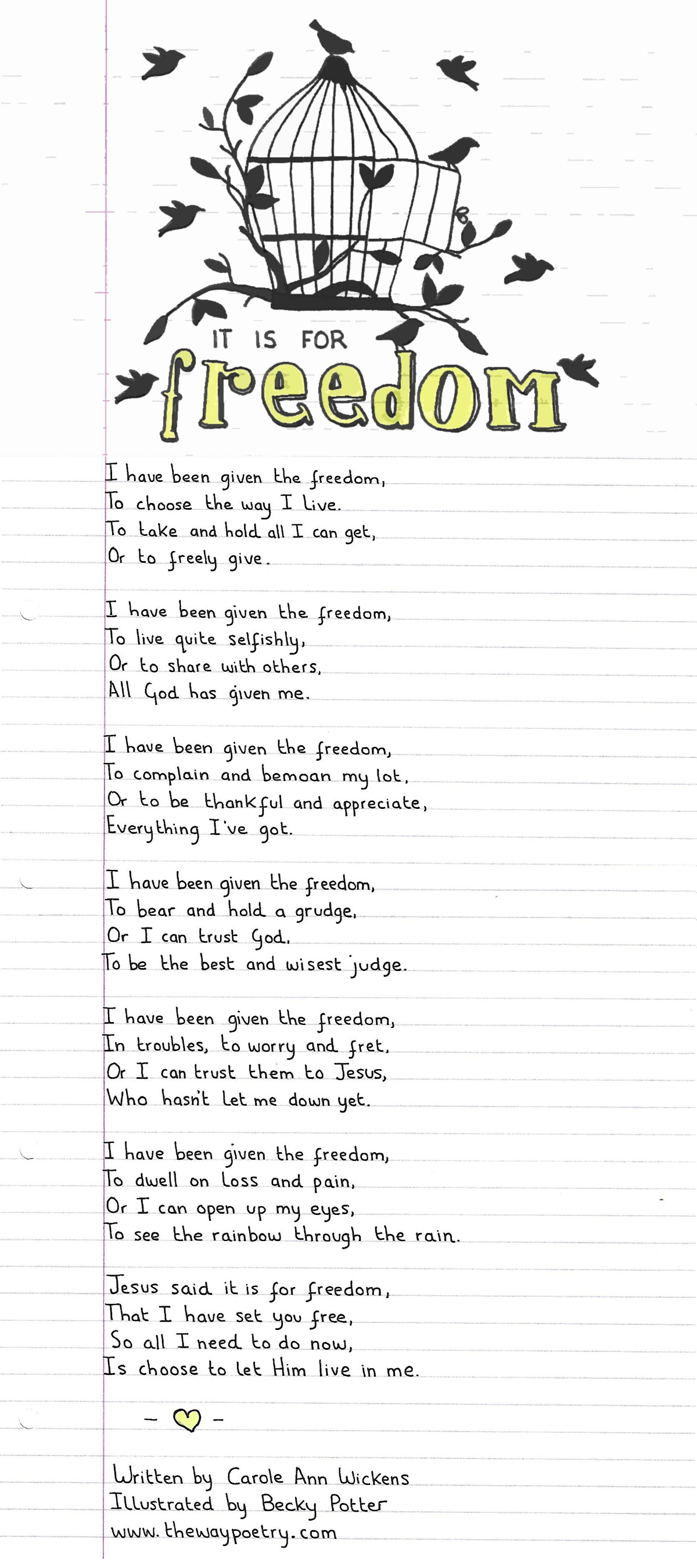 It Is For Freedom by Carole Ann Wickens