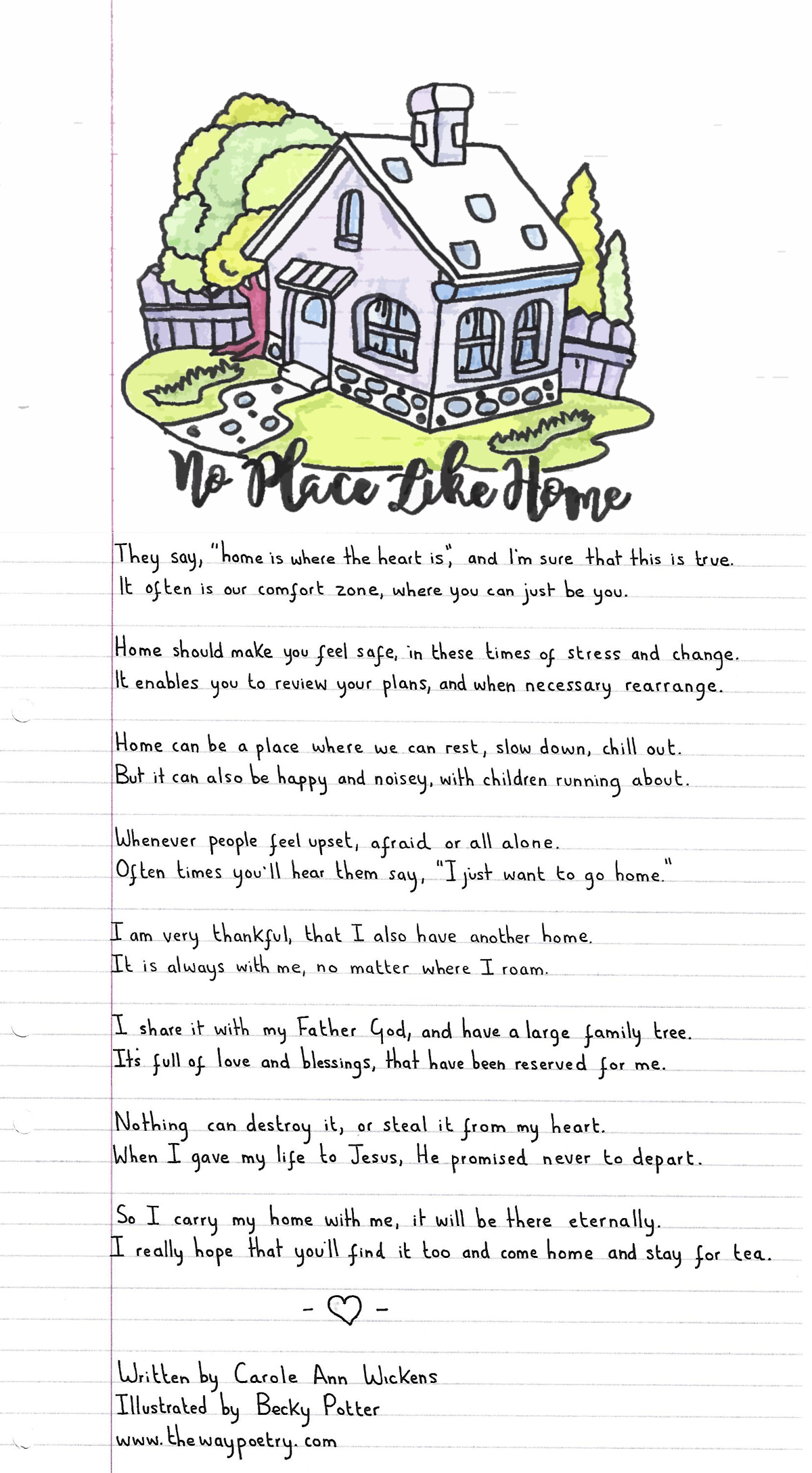 No Place Like Home by Carole Ann Wickens