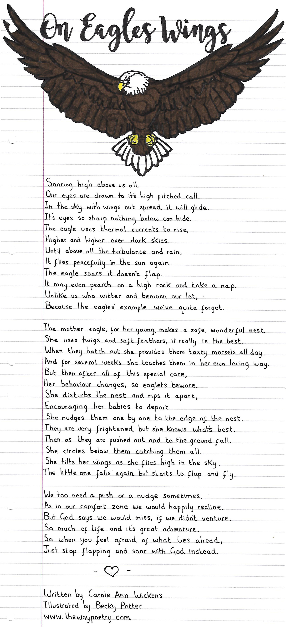 On Eagles Wings by Carole Ann Wickens