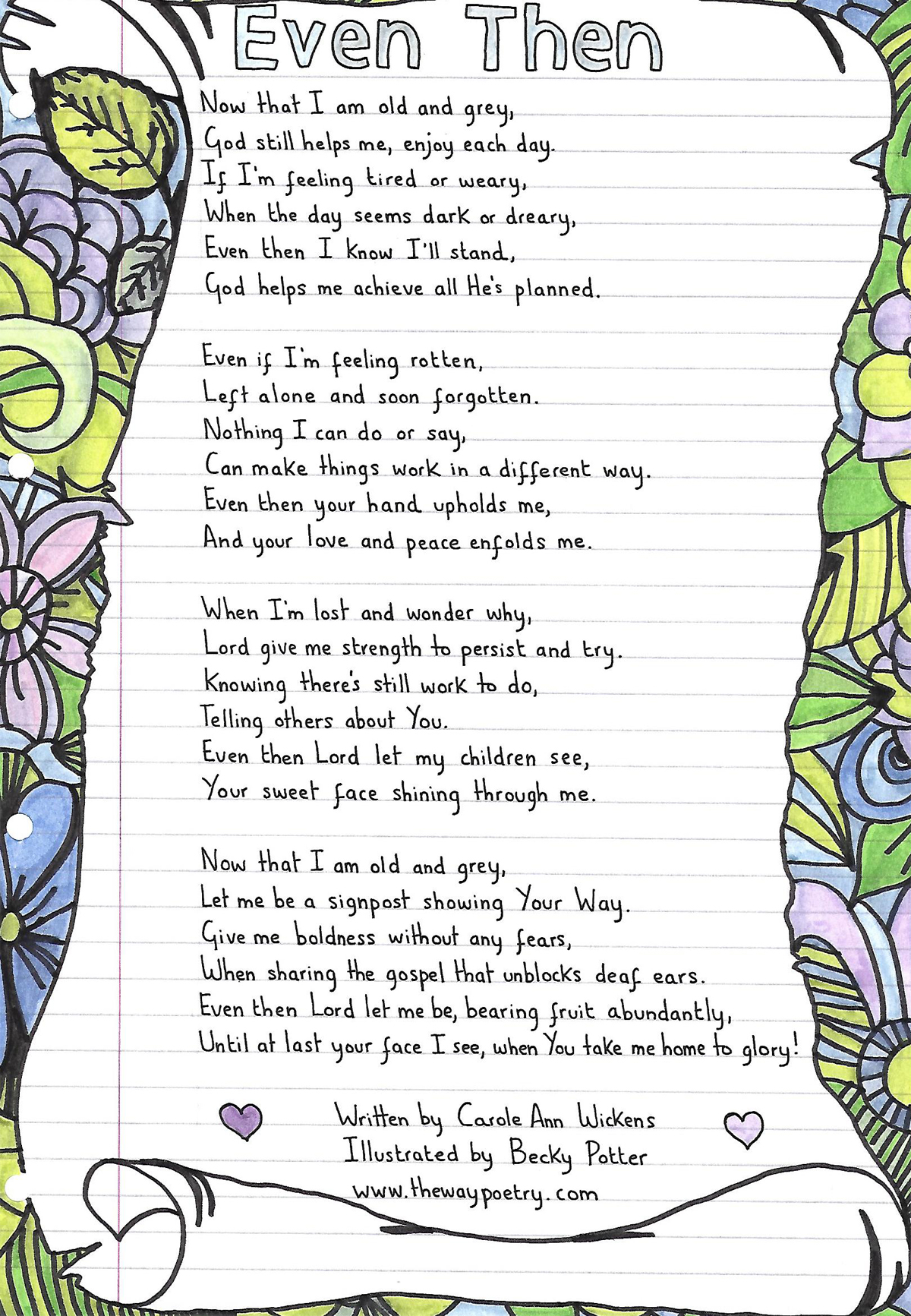Even Then by Carole Ann Wickens