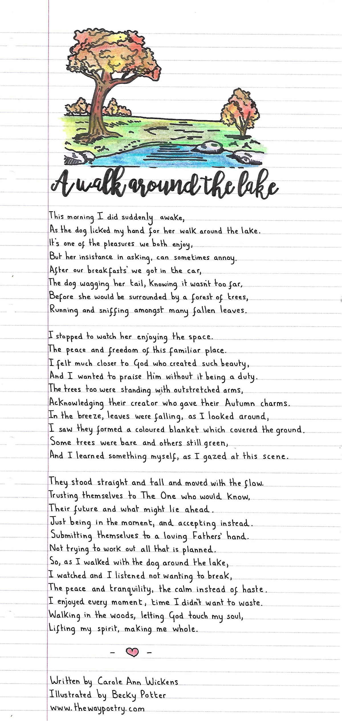 A Walk Around The Lake by Carole Ann Wickens