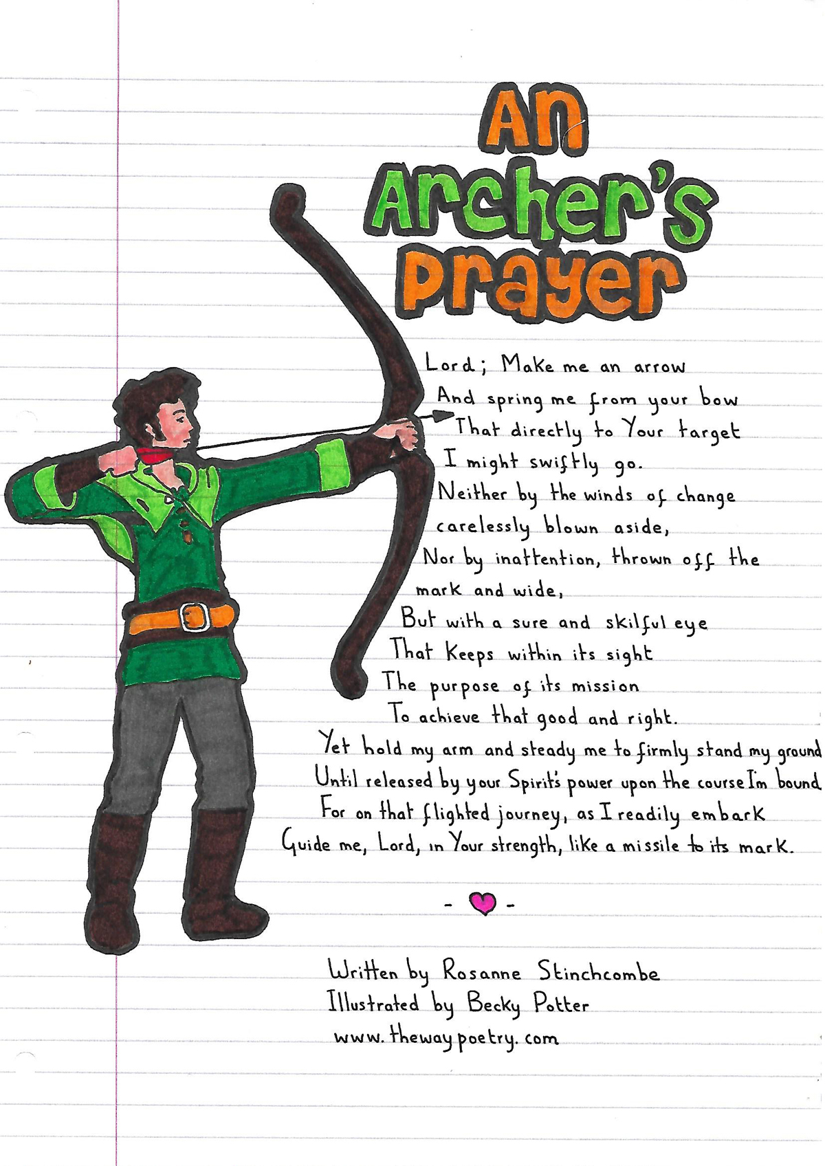 An Archer's Prayer by Rosanne Stinchcombe
