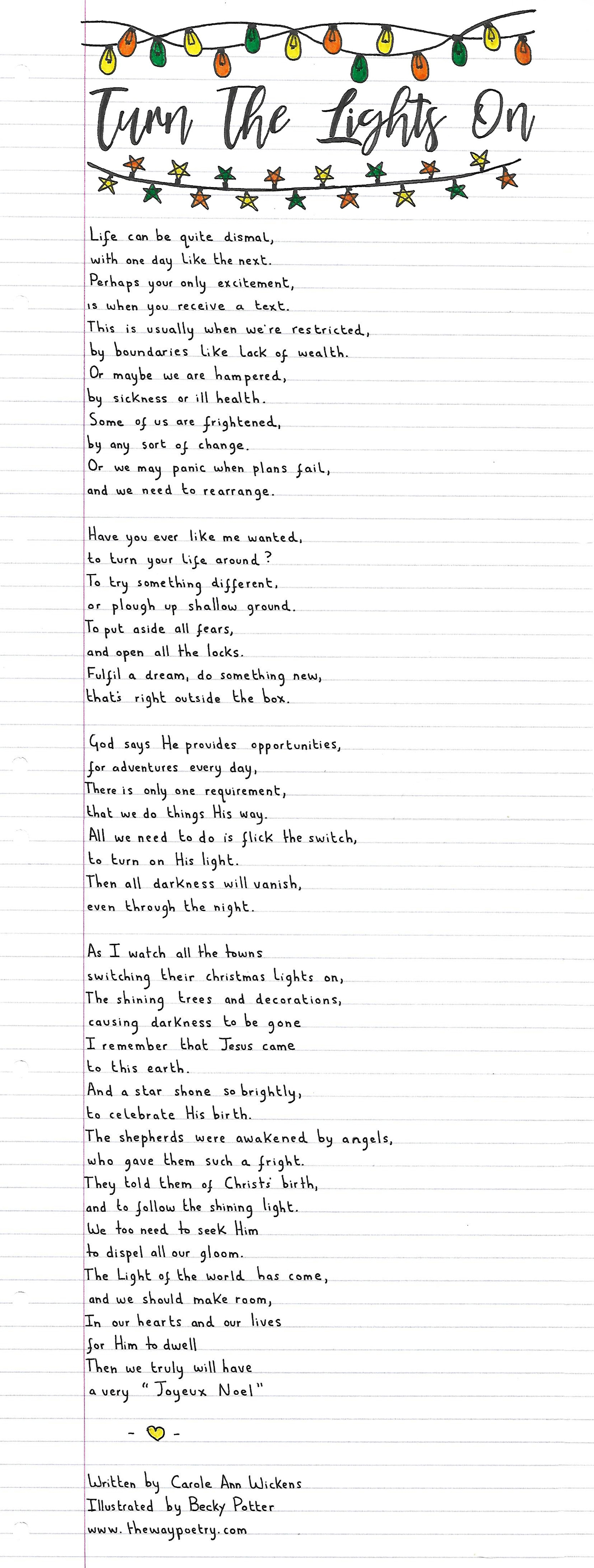 Turn The Lights On by Carole Ann Wickens