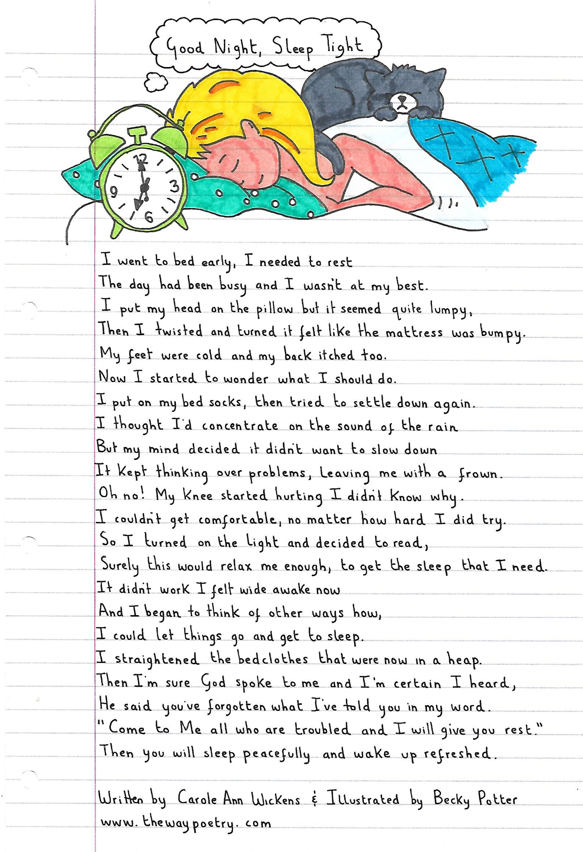 Good Night Sleep Tight by Carole Ann Wickens