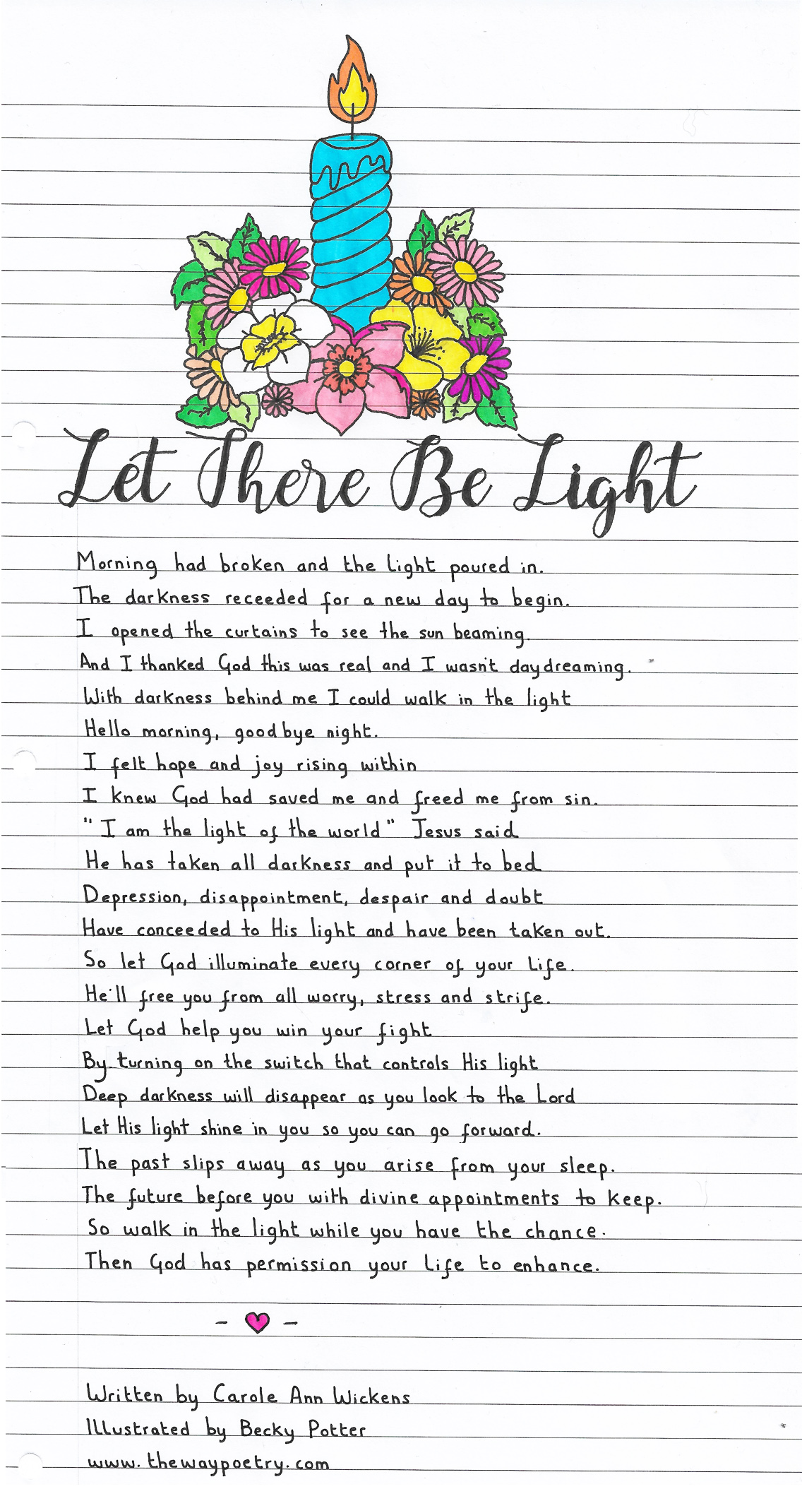 Let There Be Light by Carole Ann Wickens