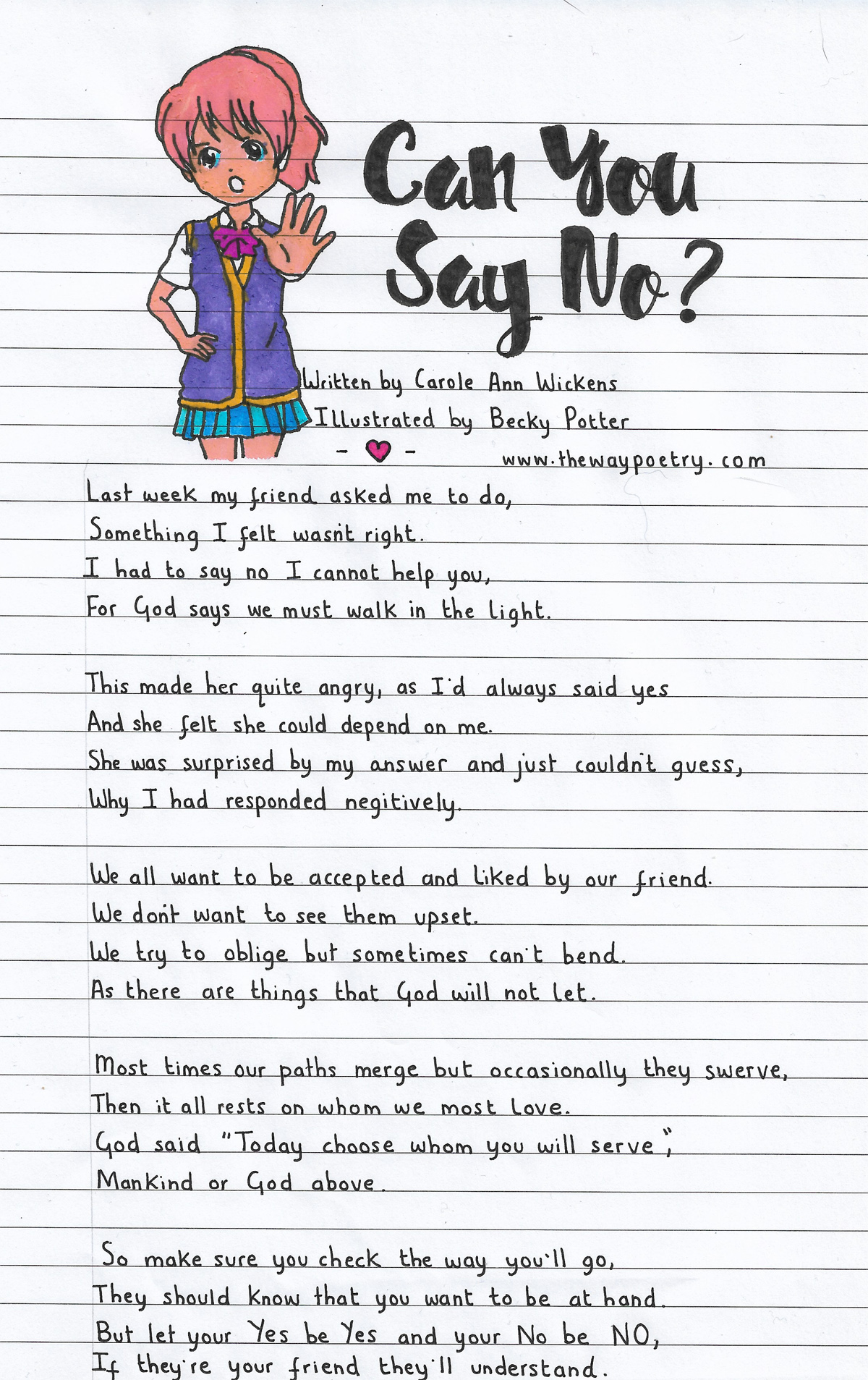 Can You Say No? by Carole Ann Wickens