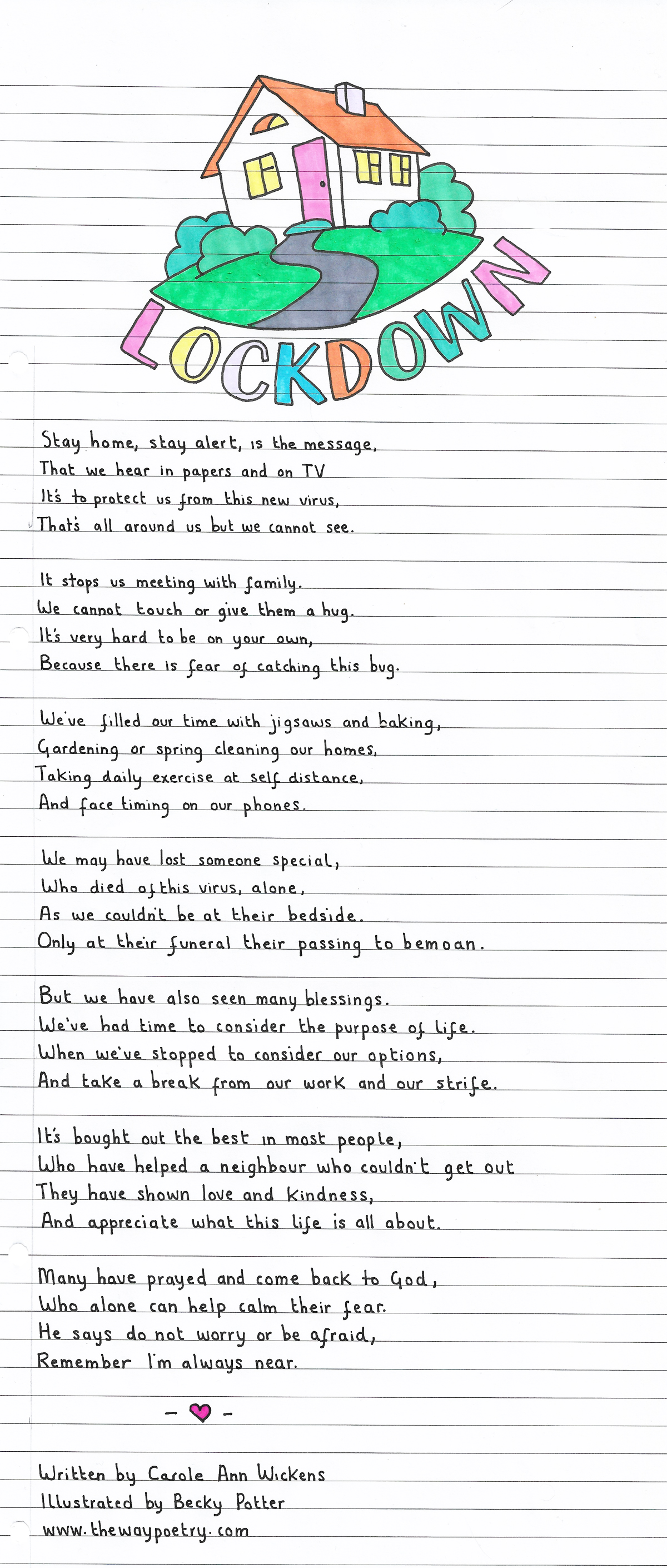 Lockdown by Carole Ann Wickens