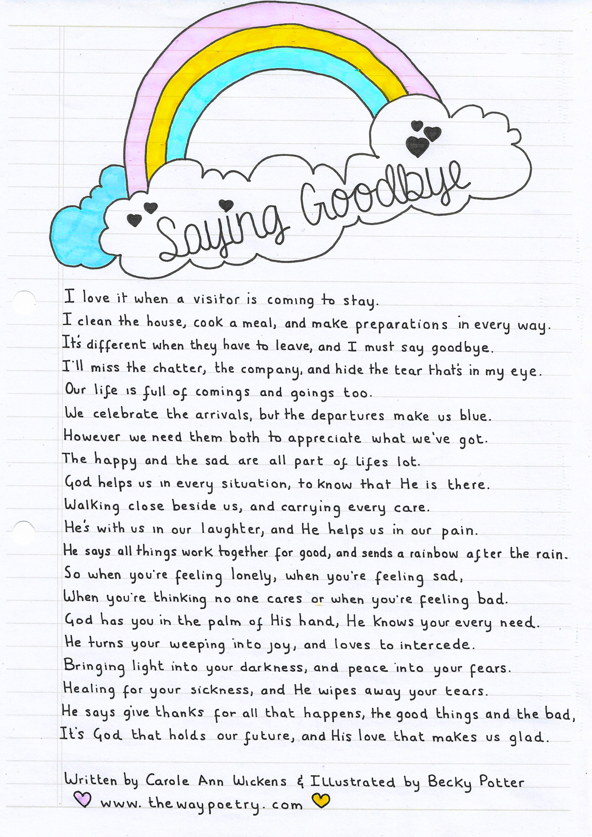 Saying Goodbye by Carole Ann Wickens